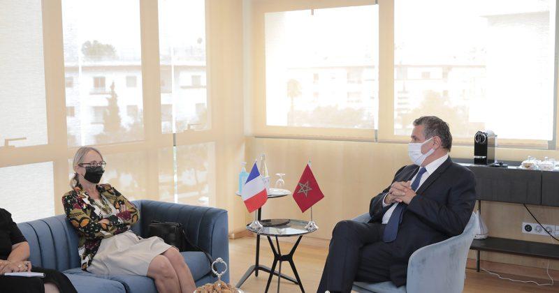 عزيز أخنوش يستقبل السفيرة الفرنسية هيلين لوغال
