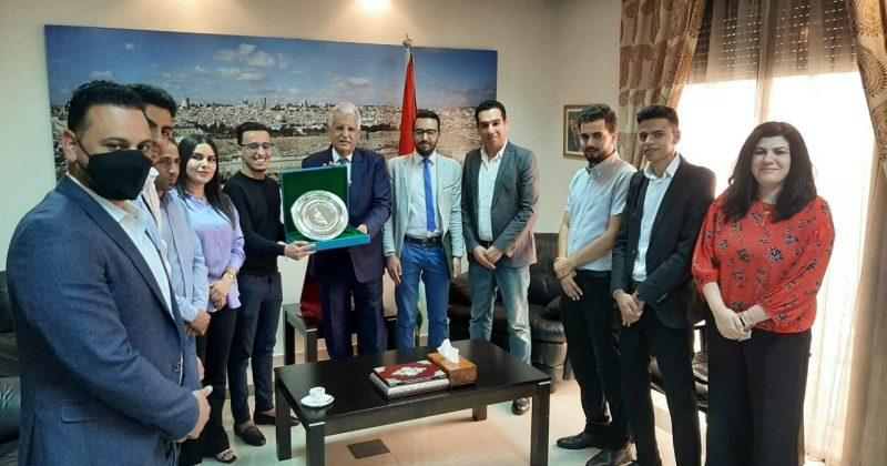 السفير الفلسطيني جمال الشوبكي يستقبل وفدا للفيدرالية الوطنية للطلبة التجمعيين